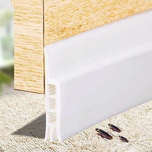 Akustische Draft Stopper Tür Unten fadensiegelung Selbstklebend Silikon Türschwellendichtung 50mm x 910mm Weiß (Draft Tür Stopper)
