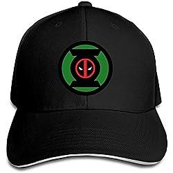 Gorra de Green Lantern/Deadpool Negra