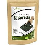 Polvo orgánico de chlorella (500 gramos) / MySuperFoods / Increíble alto contenido de Clorofila / Repleto de nutrientes / certificado como producto orgánico / Saludable Alga comestible / Agregue a bebidas y smoothies