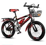 Kinder Fahrrad 6-12 Jahre Alten Kinderwagen mädchen Junge grundschule Mountainbike-Rote Einzelgeschwindigkeit A 18inch