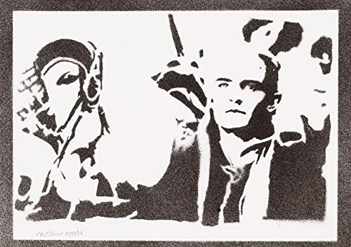 (moreno-mata Legolas Herr der Ringe (The Lord of The Rings) Handmade Street Art - Artwork - Poster)