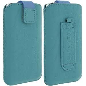 GreenGo - Etui de protection universel turquoise avec languette pull up pour Smartphone et MP3 dimension 11,5 x 6,2 x 1,2 cm (iphone 3G, Samsung Galaxy Ace, ...) - Turquoise