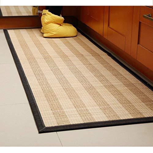 BCXX Kreative minimalistische Teppich, Rutschfeste Bambus Teppich, couchtisch Wohnzimmer Schlafzimmer Teppich, küche Matte 60 * 180 cm