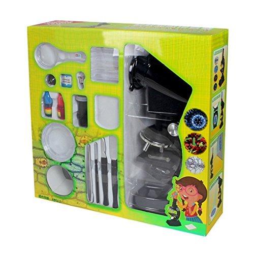 YBB Junior Mikroskop Anfänger Mikroskop für Kinder mit LED, 300X, 600x, 1200xMagnification,Natur...
