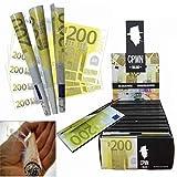 """Ncient 1 Libretto da 10 pz Cartine Smoking """"200 Euro"""" Sigarette Vuota Cartaper Fumare Originali"""