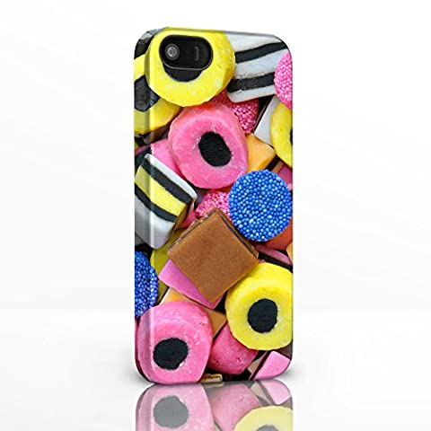 Sweet Shop Collection Phone Case for iPhone 7 Plus - Design 3: Licorice AllSorts. Hard Back Glossy Covers for iPhone Models.