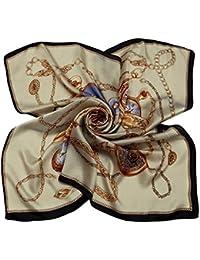 niceEshop(TM) Women Flower Mulberry Silk Square Scarves Bandana Scarf