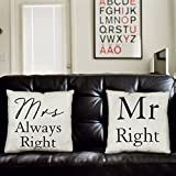 Mr Right & Mrs Always Right Kissen