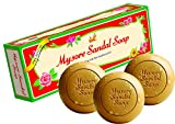 Mysore Pure Natural Sandalwood Oil Ayurvedic Soap - 3 x 150g bars in 1 gift pack