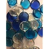 Mélange perles de blues et galet décoratif en verre transparent–Aquarium floral écrans Bougie de mariage de Noël Loisirs Créatifs