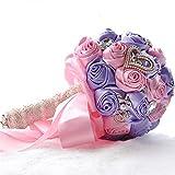 Romantische künstliche Rose, Brautstrauß Künstliche Rosen-Arrangement-Blumenstrauß-Noten-Familien-Büro-Partei und Hochzeit Romance, Gedeck Unvergessliche Erinnerungen für Zuhause, Handwerk,