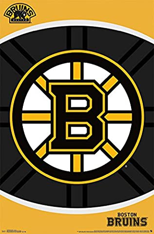 Bruins de Boston Logo de l'équipe de hockey NHL Poster Rp13638