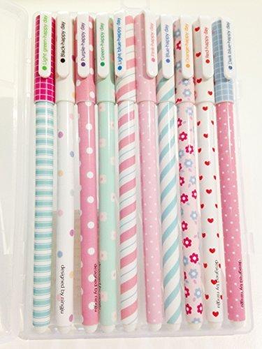 fre-set-de-10pcs-differentes-couleurs-gel-crayons-pastel-stylos-bricolage-pour-lecriture-de-dessin