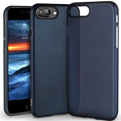 iPhone 8 Plus Hülle [UltraSlim, Slim, Slim-Fit], Orzly® - FlexiSlim Case für Apple iPhone 8 Plus / iPhone 7 Plus (5,5 ZOLL Version des 2016 Modells SmartPhone / Handy) - Extrem dünne Slim Case / Schut BLAU FlexiSlim für iPhone 7 PLUS