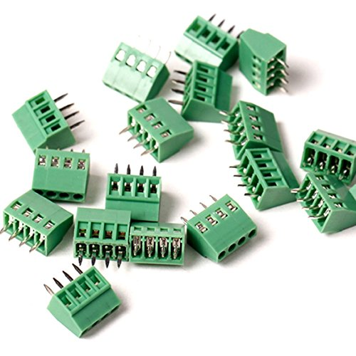20 Stück/lot 2,54 mm PCB Screw Terminal Block, e-simpo 2,54 mm Screw Terminal, PCB Mount Terminal Block, 150 V6 a CE RoHS UL Crimpsteckverbinder 4P)
