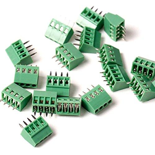 20Stück/lot 2,54mm PCB Screw Terminal Block, e-simpo 2,54mm Screw Terminal, PCB Mount Terminal Block, 150V6a CE RoHS UL Crimpsteckverbinder 4P)