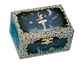 "Musicbox Kingdom 22004 Musical Jewelry Box Ballerina, Playing""Ballerina"", Blue"