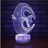 Lampe Für Optische Täuschung Novedad 3D Led-Riff-Fisch Modelado Lámpara De Escritorio Usb 7 Farbe Kinder Nachtlicht Nachtlicht Regalos Lamparas Accesorios De Iluminación