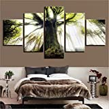 YDGG Canvas Painting Poster Picture Printed Wall Art 5 Pcs Forest Home Decor Landscape-40x60 40x80 40x100cm no frame