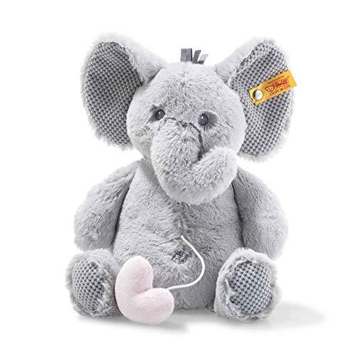Steiff 241765 Ellie - Peluche de elefante musical, color gris claro