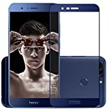 #8: Dashmesh Shopping™ Huawei Honor 8 Pro (FULL BODY GLUE) (EDGE TO EDGE) (BLUE) Tempered Glass Screen Protector With FREE Installation Kit