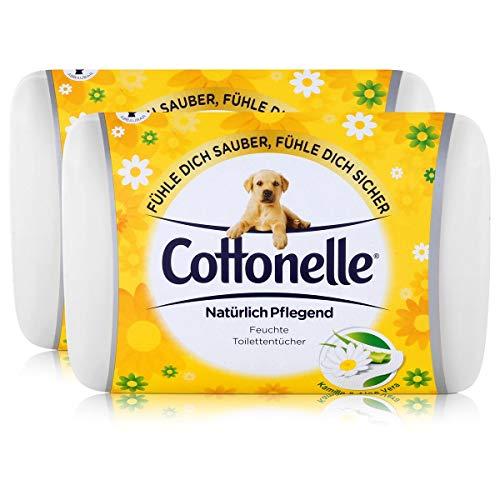 2x Hakle Cottonelle feuchte Toilettentücher Kamille & Aloe Vera 42 Tücher, Starterset -