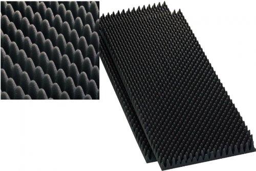 Monacor 12.2220 40mm LS-Dämmschaum, grau (2er Pack) Speaker-schaum