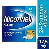 Nicotinell 17,5 mg / 24-Stunden- Nikotinpflaster, 14 St.: Pflasterstärke Leicht (3) - Das Nicotinell Nikotinpflaster mit der Steady-Flow Technologie hilft, das Rauchverlangen für 24 Stunden zu lindern