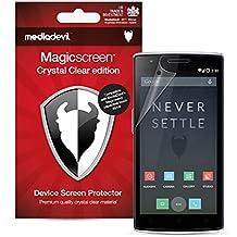 MediaDevil OnePlus One Protector de Pantalla: Crystal Clear Transparente - (2 Protectores) - Magicscreen