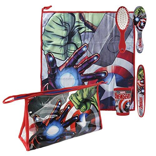 Avengers-2500000686 Set Neceser higiene Comedor Escuela (Artesanía Cerdá 2500000686)
