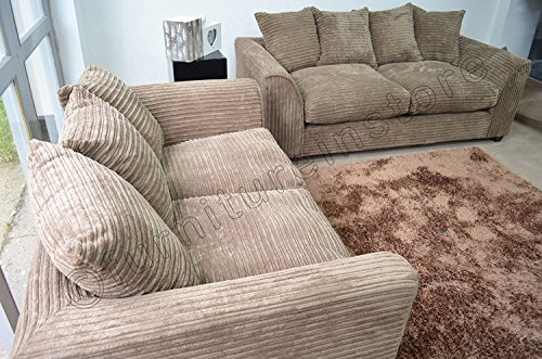 dylan byron caramel mink fabric jumbo cord sofa settee couch 32 seater from furniture