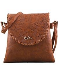 Serra Paris Women's Sling Bag (Available In Dark Tan, Peach, Light Brown, Rose Pink, Sand, Beige & Yellow) (Dark...