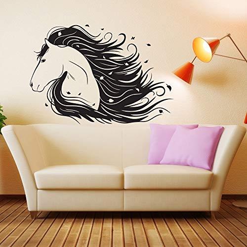 Dongwall Vinyl Wandtattoos Für Mädchen Zimmer Pferd Pony Aufkleber Dekor Geschenk Wandvinyl Repetable Raumdekoration Abziehbild Für Kindergarten 56 * 81 cm - Pferd Dekor Mädchen Für Zimmer