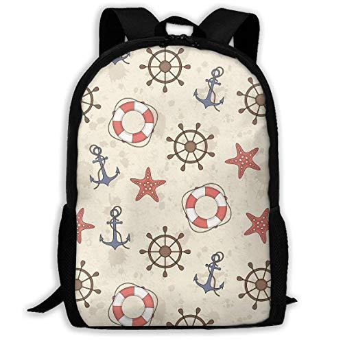 Anker Helm Seestern und Rettungsring drucken benutzerdefinierte lässig Rucksack Schultasche Travel Daypack - Geschenke