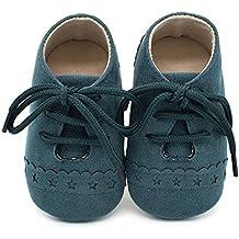 Zapatos de bebé, Zapatillas de bebé niño Anti-Slip Suave Suela de Encaje Zapatos