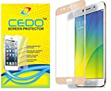 CEDO Full Coverage Edge To Edge Tempered Glass Screen Protector For Oppo F3 (Full Glass Gold)(Not for F3 Plus)