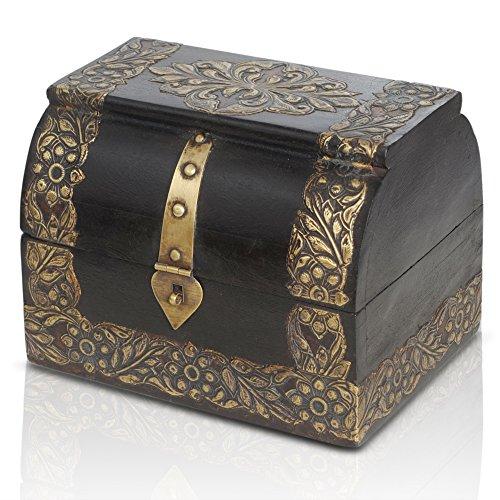 Brynnberg Caja de Madera con candado Modelo: Princess Gloria Medio |Cofre del Tesoro Pirata de Estilo Vintage | Hecha a Mano | Diseño Retro |