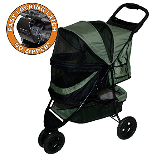 Pet Gear 02704 Buggy zum Transport von Hunden/Vierbeinern, ohne Reißverschluss, Sonderausführung Salbeigrün, bis 20,41kg