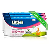 #4: Little's Soft Cleansing Baby Wipes (Pack of 3, 80 Wipes)