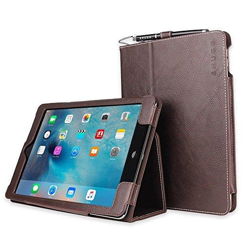 Snugg iPad Air Caso (Dark Roast Brown), Copertina in Ecopelle Intelligenti, Rivestimento Interno di Qualità in Nabuk, Supporto Flip-stand con una Garanzia a Vita per Apple iPad Air