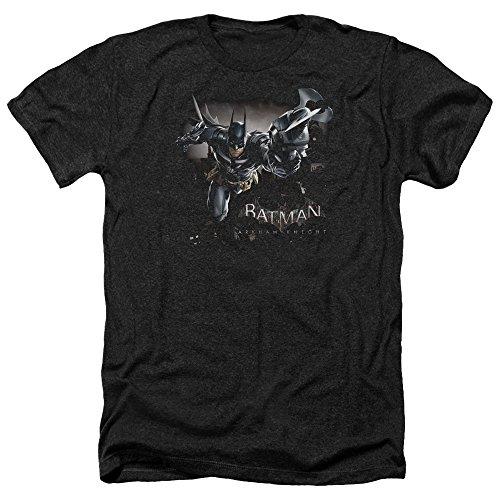 Trevco Batman: Arkham Knight Video Game W-Tech Grapnel Gun Adult Heather T-Shirt Tee