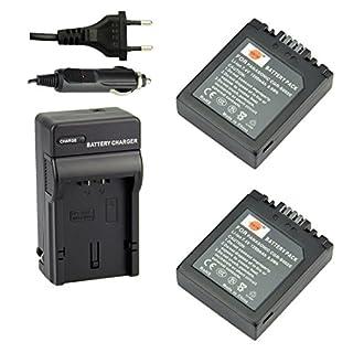 DSTE®(2 Pack)Ersatz Batterie und DC62E Reise Ladegerät Kit für Panasonic S002E Lumix DMC-FZ1 DMC-FZ2 DMC-FZ3 DMC-FZ4 DMC-FZ5 DMC-FZ10 DMC-FZ15 DMC-FZ20 Kamera as Panasonic CGA-S002 CGA-S002A