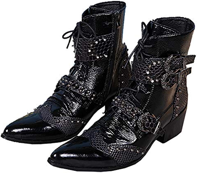 & 65509;scarpe Stivaletti Chelsea Zip Laterali in Pelle con Punta A Punta Scarpe da Lavoro | Un equilibrio tra robustezza e durezza  | Maschio/Ragazze Scarpa