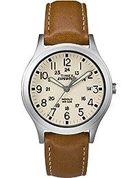 Timex Reloj Analógico para Unisex Adultos de Automático con Correa en Cuero  TW4B11000 e7fc837fcf73
