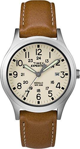 Timex Unisex Erwachsene Analog Automatik Uhr mit Leder Armband TW4B11000