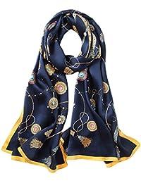 5 ALL Echarpe Foulard Femme Impression Anti uv Coloré En Soie Grand Foulard  Soie Chale Femme Echarpe Longue Ete… b71c6cd5a71