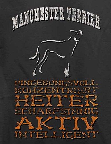 Hund Manchester Terrier Herren T-Shirt Grau