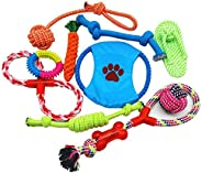 Dog Rope Toys 10 Pack Pet Toy Set Pet Puppy Teething Chew Rope Tug Assortment for Small Medium Large Dogs Bree