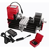 Signswise High Quality Motorized Mini Metal Working Lathe Machine DIY Tool Metal Woodworking for Hobby Science Education Modelmaking