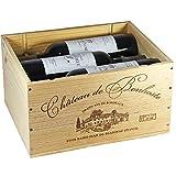 OHK Château de Bonhoste 2015 Rouge A.O.C. Bordeaux Supérieur Rotwein Cuvée Prestige in der originellen Weinkiste aus Holz (6 x 0,75l)
